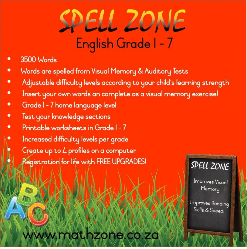 Spell Zone Grade 1-7 (English)